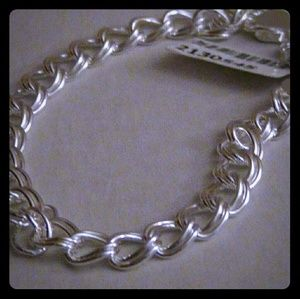 """Jewelry - Sterling Silver Bracelet 11grams 8"""" Double Curb"""